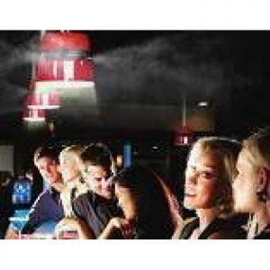 Ceilo ceiling misting fan in a bar