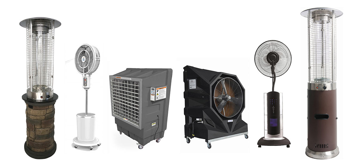 Outdoor cooling and heating products