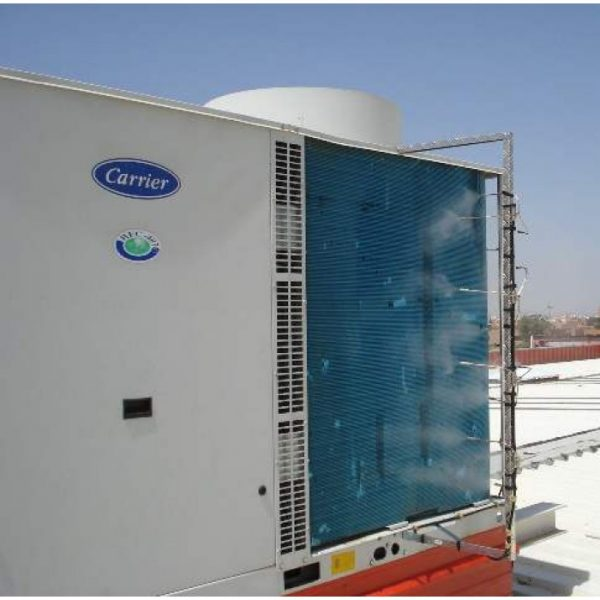 misting system for chiller pre-cooling