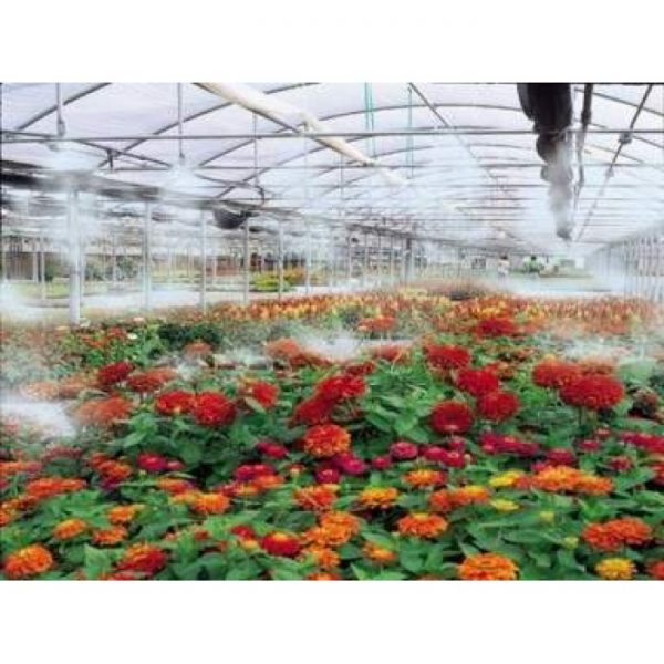 high-pressure-misting-system in green house